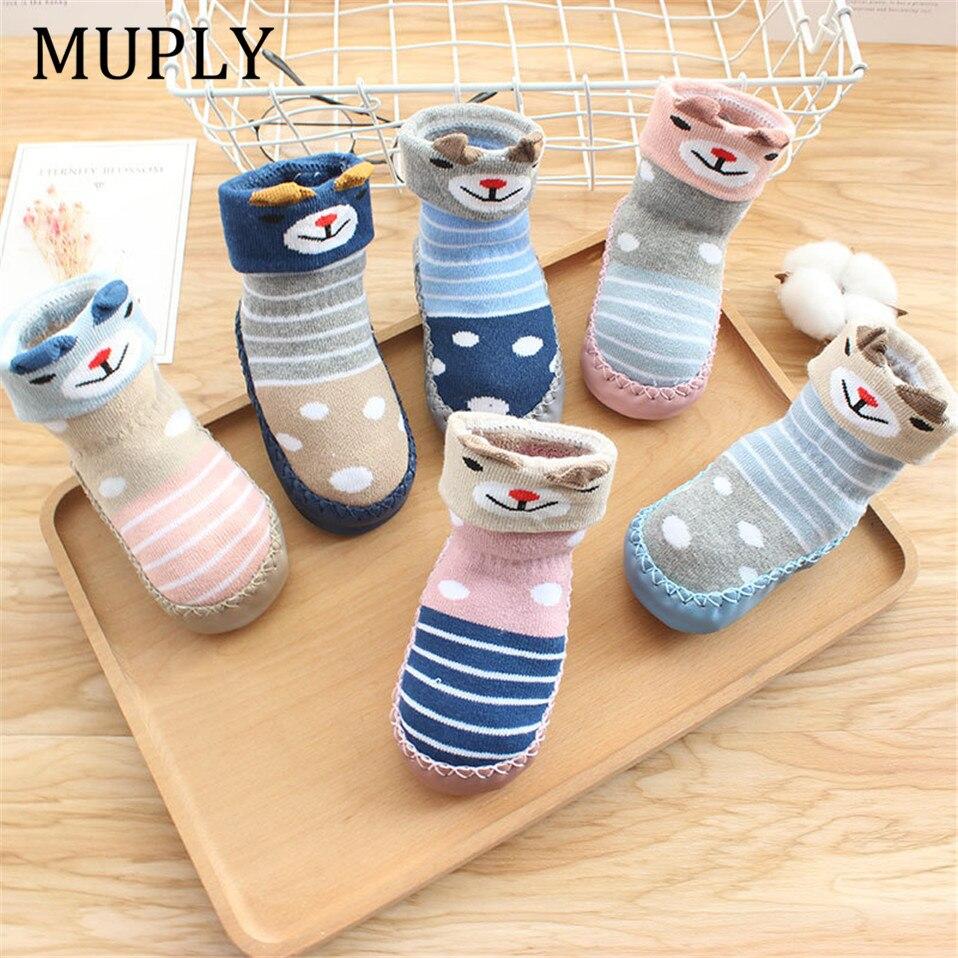 2020 neue geboren Baby Socken Mit Gummi Sohlen Säuglings Baby Mädchen Jungen Schuhe Frühling Herbst Baby Boden Socken Anti Slip weiche Sohle Socke