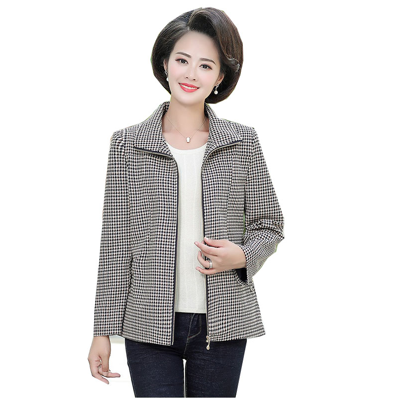 Basic Tops Overcoat 2019 New Spring Autumn Middle Aged Women Casual Coats Jackets XL-5XL Plus Size Printed Coat Mother Dress