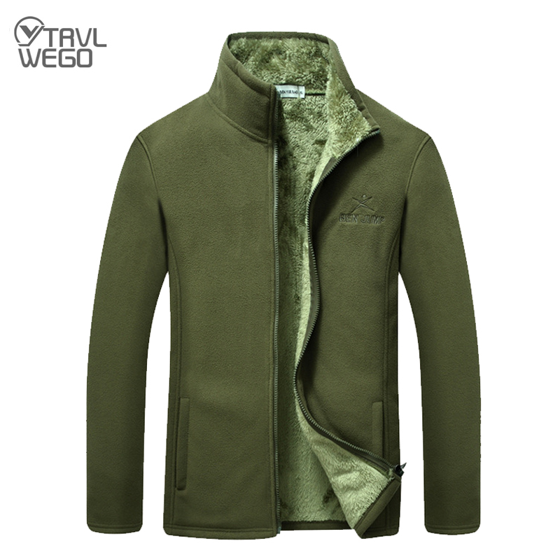 TRVLWEGO Мужская зимняя уличная флисовая куртка, утолщенное туристическое пальто для кемпинга, альпинизма, треккинга, походов, куртки