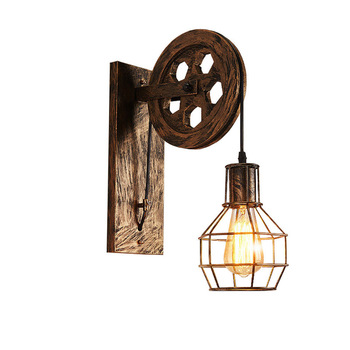 Retro Vintage Wall Light Industrial Wall Lamp Shade Fixture Iron Loft Cafe Bar Adjustable Sconce Lights Wandlamp Decoration LED golden retro vintage wall lamp with 2 lights for home adjustable arm industrial loft edison wall sconce arandela wandlamp