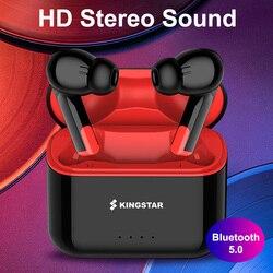 KINGSTAR TWS Bluetooth 5.0 écouteurs sans fil casque HD appel stéréo sport casque avec Microphone pour iOS Android PK i90000