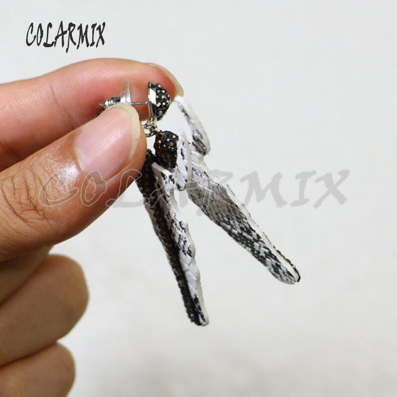 Image 2 - 5 pairs  skin cattle earrings drop earrings pieces earrings bull head earrings geometric  gems accessories for women  9426Drop Earrings   -