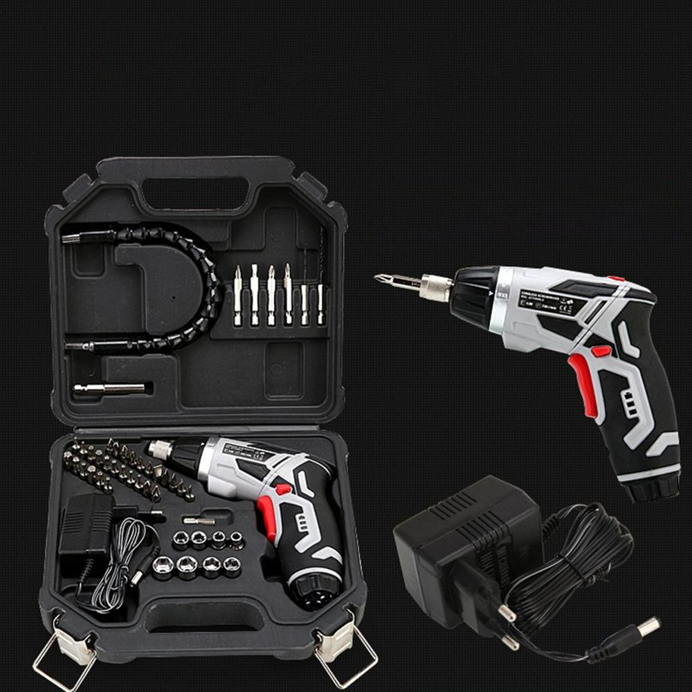 Electric Cordless Screwdriver Household <font><b>Battery</b></font> <font><b>Drill</b></font> <font><b>Driver</b></font> Rechargeable Lithium Electric <font><b>Drill</b></font> With Flashlight image