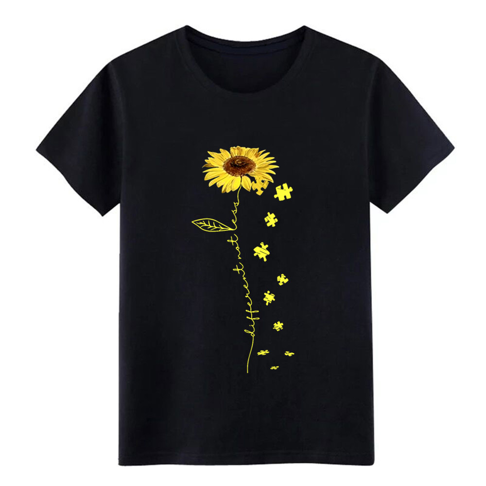 Sunflower Art Different Not Less Yelow Flower Auti    T Shirt Men Print Cotton S-3xl Homme Crazy Authentic  Standard Shirt