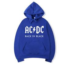 Brand AC DC Hoodie Men Hip Hop Rock Band ACDC Back In Black Sweatshirt Male Casual Streetwear Jacket Hoody Sweatshirts Men/Women(China)