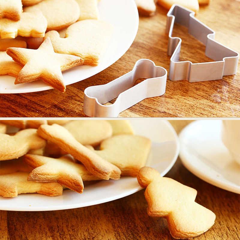คุกกี้ Cutters Moulds อลูมิเนียมน่ารักสัตว์ขนมบิสกิตแม่พิมพ์ DIY Fondant Pastry ตกแต่งเบเกอรี่ครัวเครื่องมือคุกกี้