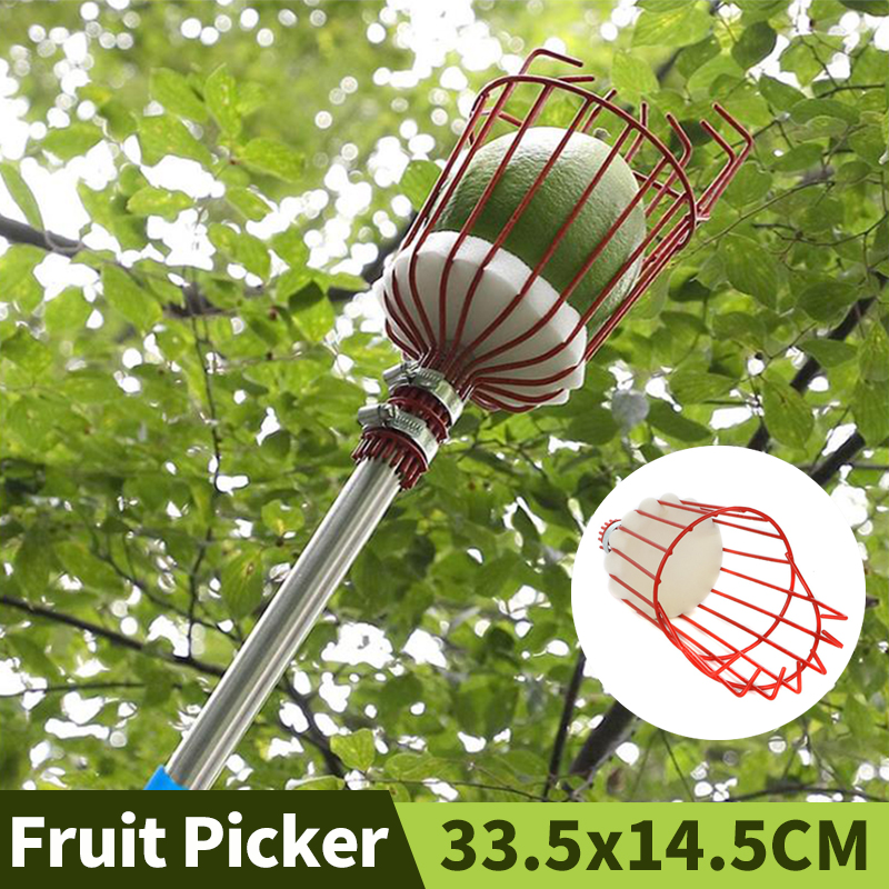 Gardening Fruit Picker Garden Accessories Berry Picker Agriculture Tools Picking Hand Tool With Removable Stainless Steel Rod