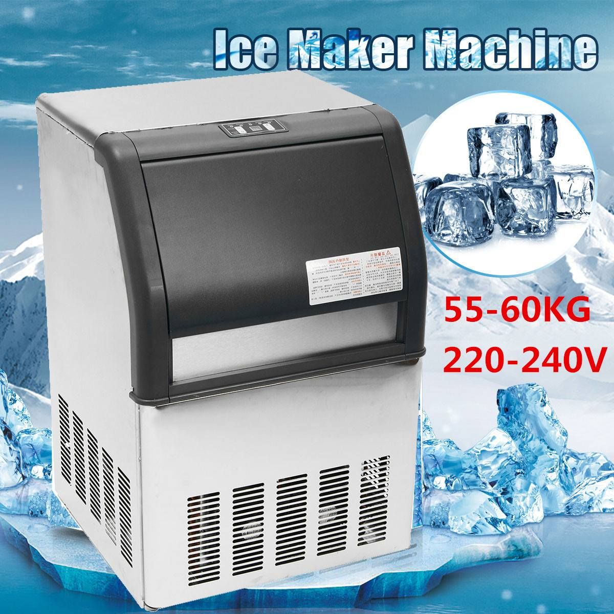 Ice Making Machine Commercial Cube Ice Maker Automatic Household Ice Cube Making Machine For Bar Coffee Shop Milk Tea Room