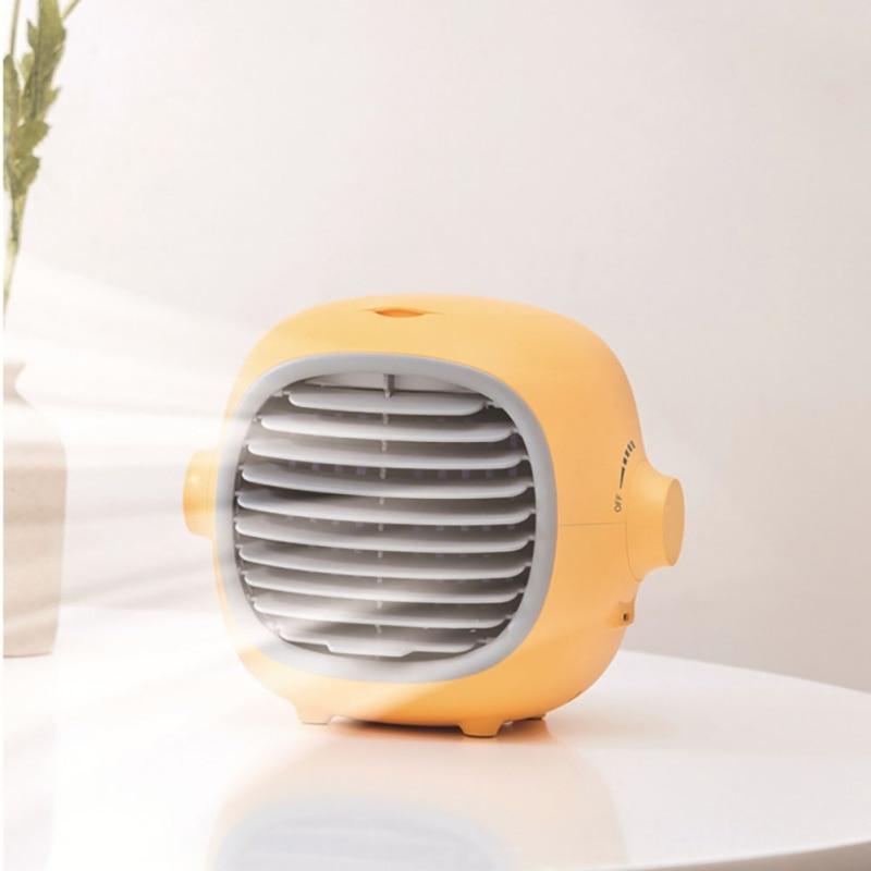Household Portable Water Cooling Fan Desktop Humidification Fan USB Rechargeable Air Conditioner Fan Spray Fan