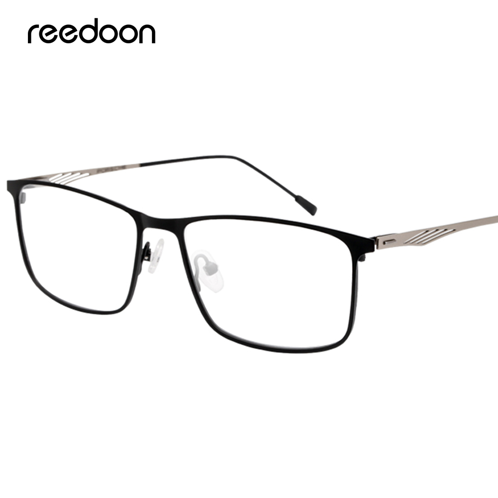 Reedoon Myopia Glasses Frame Ultralight Square Prescription Eyeglasses Titanium Frames Optical Eyewear For Men Women P8835
