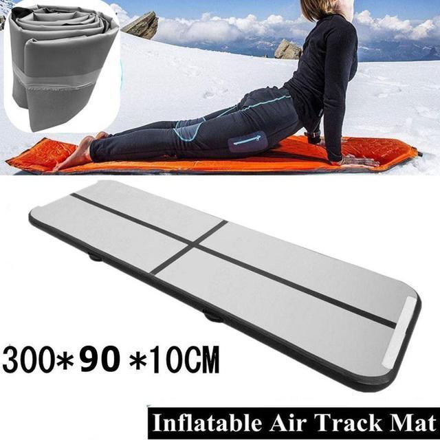 Tapis gonflables de culbutage de gymnastique tapis dentraînement de pratique de tapis de Yoga de culbutage dairtrack de plancher de voie dair pour lusage à la maison, gymnastique