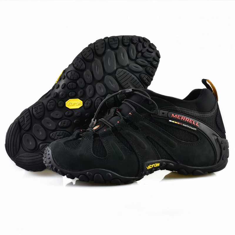 Merrell Hiking-Shoes Outdoor Full Men with Mesh Black-Color Men's title=