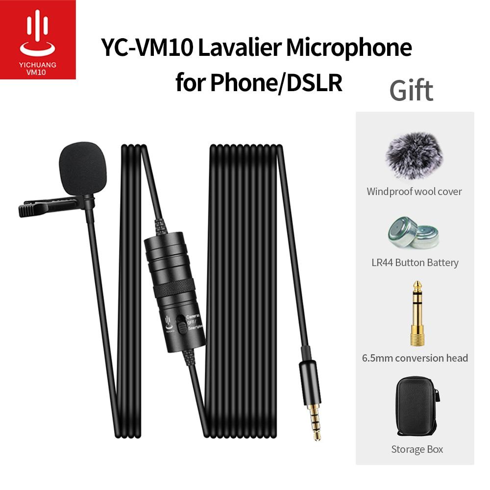 Петличный конденсаторный мини микрофон YICHUANG, 3,5 мм, для записи цифровых зеркальных фотокамер Canon / iPhone|Микрофоны| | АлиЭкспресс
