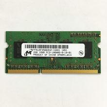 Micron DDR3 2GB 1333MHz 2 CARNEIROS GB 1RX8 2 PC3-10600S-9-10-B1 DDR3 1333 GB de memória portátil