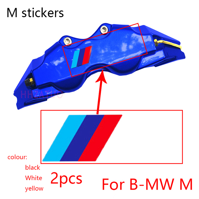 2pcs car body stickers decals car packaging products auto partsFor bmw M F10 F20 F25 F30 F31 E30 E36 E39 E87  car accessories