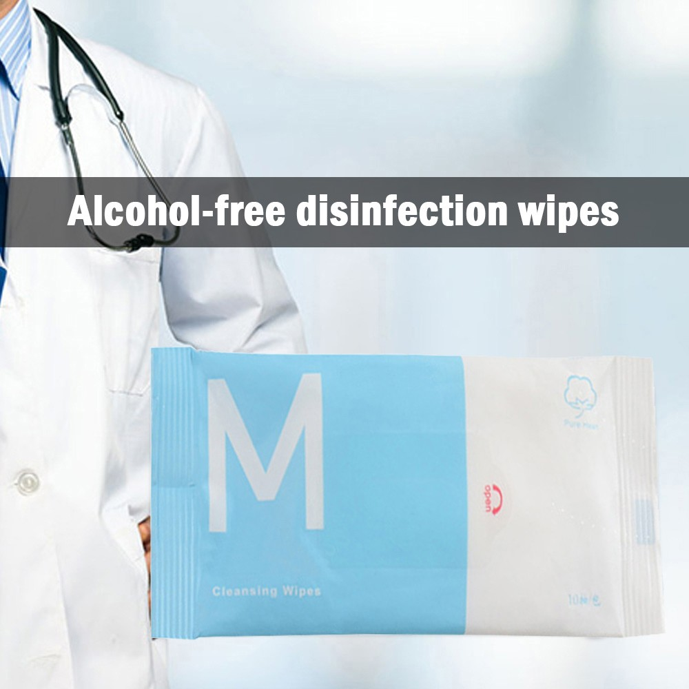 Antibacterial Wet Wipe Tissue Clean Hand Health Care 10 wipes/pack Kitchen Dining Bar Outdoor Cleaning Supplies @45
