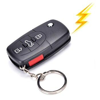 Practical Electric Shock Gag Car Remote Control Key Funny Trick Joke Prank Toy Gift Joke Car Toy adult joke harmless electric shock duck party funny keychain prank trick toy