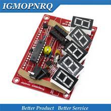 1lot DIY Kits RF 1Hz-50MHz Crystal Oscillator Frequency Counter Meter Digital LED tester meter стоимость