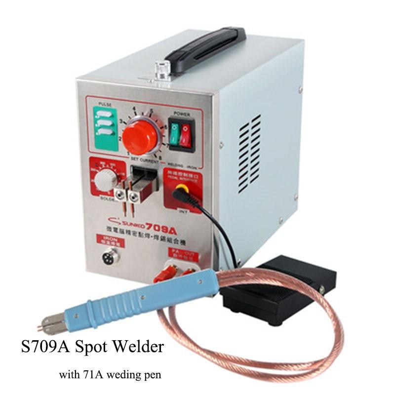 SUNKKO 709A Battery Spot Welder With HB-71A Welder Pen For 18650 WELDING STATION Spot Welding Machine 220V /110V