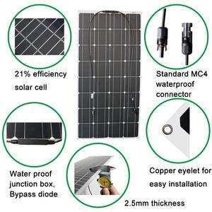 Image 5 - RG 100w 200w portátil 12v Panel Solar Flexible 16V 800W de las células de silicio monocristalino