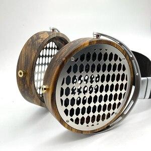 Image 4 - 105mm גדול אוזניות דיור פתוח סוג אוזניות אוזניות DIY מותאם אישית עץ אוזניות פגז מקרה