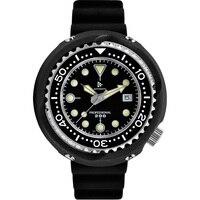 Retangula RDUNAE Vintage atún relojes de buceo 200m a prueba de agua de cristal de zafiro C3 luminosa relojes mecánicos NH35A reloj automático