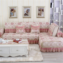 European Style Fashion Lace Jacquard Sofa Cushion Sofa Cushion Minimalist Modern Four Seasons Fabric Sofa Cover
