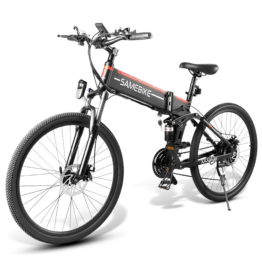 26 Inch Folding Electric Bike Power Assist Electric Bicycle E-Bike Spoke Rim Scooter Moped Bike 48V
