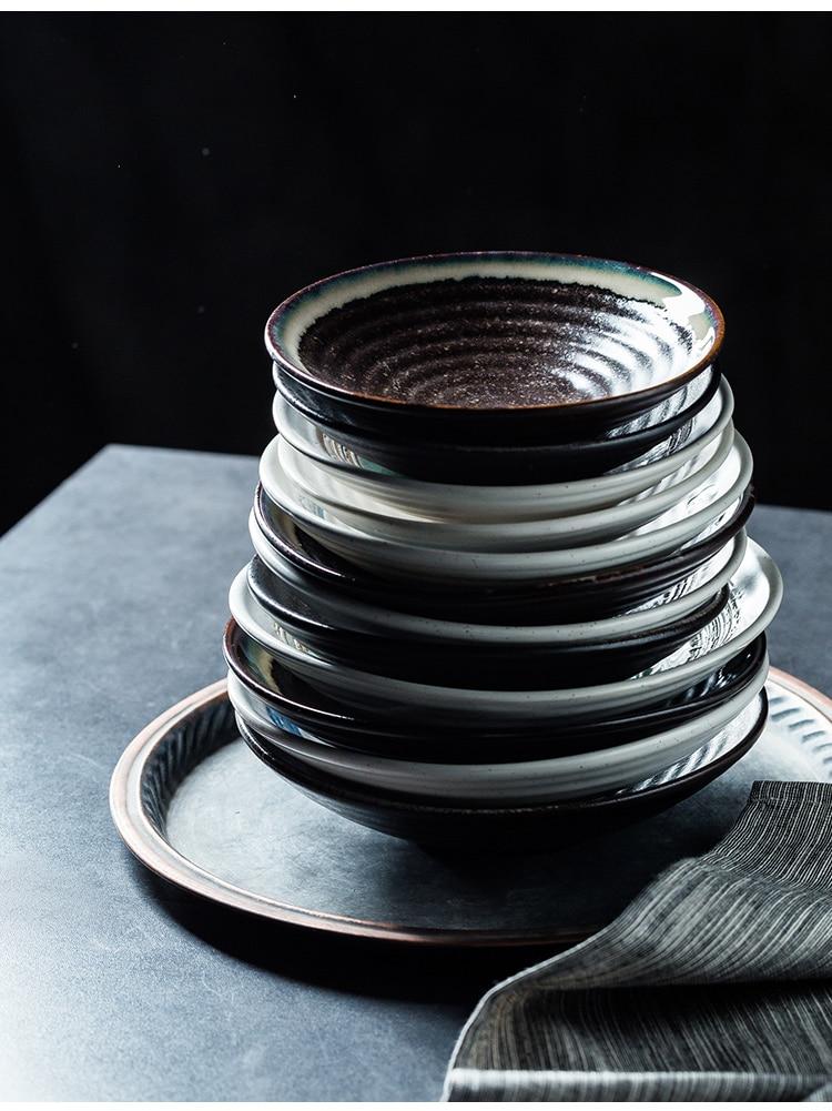 macarrão tigela de sopa tigela arroz salada placa china porcelana g254
