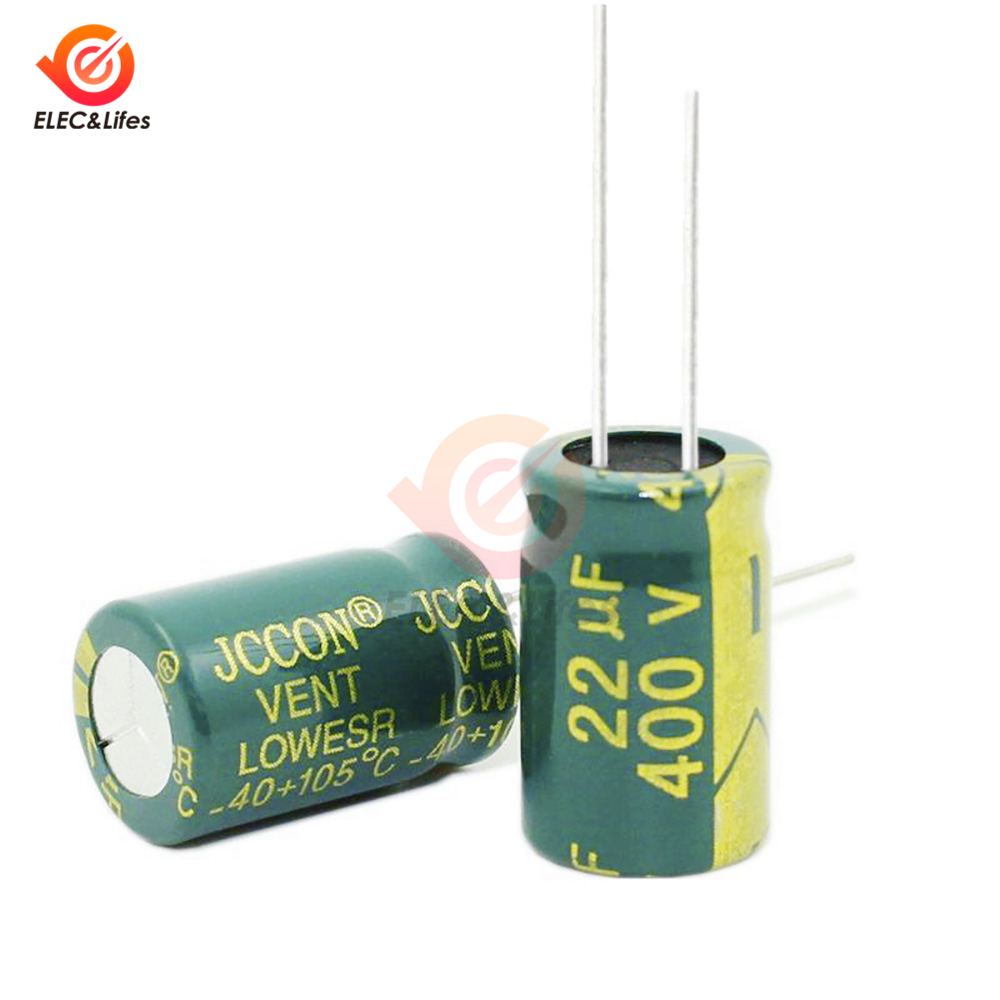 20Pcs 400V 22UF High Frequency low impedance 13*21mm aluminum electrolytic capacitor <font><b>400v22uf</b></font> image