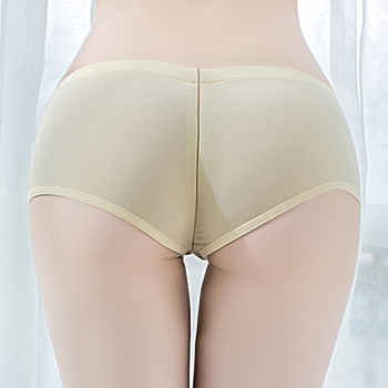 High Elasticity Sexy Zipper Open Crotch Mini Shorts See Through Temptation Cute Tight Package Hip Sex Party Porno Women - discount item  30% OFF Shorts
