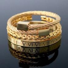 3 шт/компл роскошный браслет в стиле хип хоп с римскими цифрами