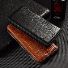 Crocodile Genuine Flip Leather Case For Huawei Nova 2 2S 3 3i 3e 4 4e 5 5i 5T 5Z 6 7 SE Plus Pro Business Cell Phone Cover Cases