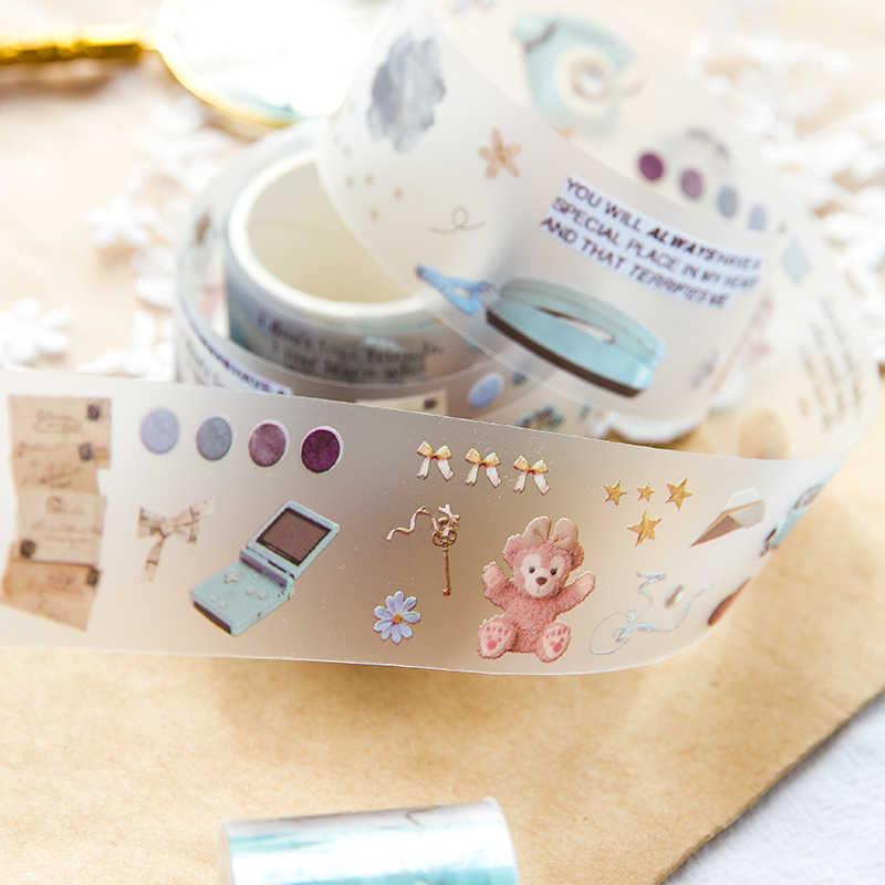 Vintage ancien objet balle Journal fait à la main décoratif Washi ruban Transparent étiquette autocollants ruban adhésif décor bricolage planificateur