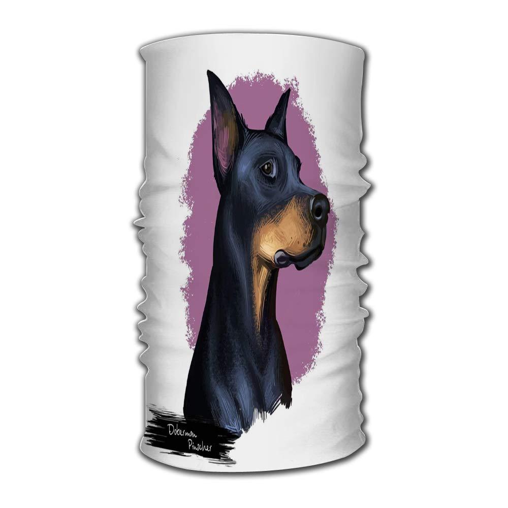 Headband Doberman Pinscher Dobermann Dobie Dobynm Dog Digital Art Quick Dry Microfiber Headwear Outdoor Magic Bandana As Neck