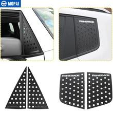 MOPAI Styling Leisten für Auto Vorne Hinten Fenster Dreieck Glas Dekoration Abdeckung Aufkleber Zubehör für Jeep Renegade 2016 +