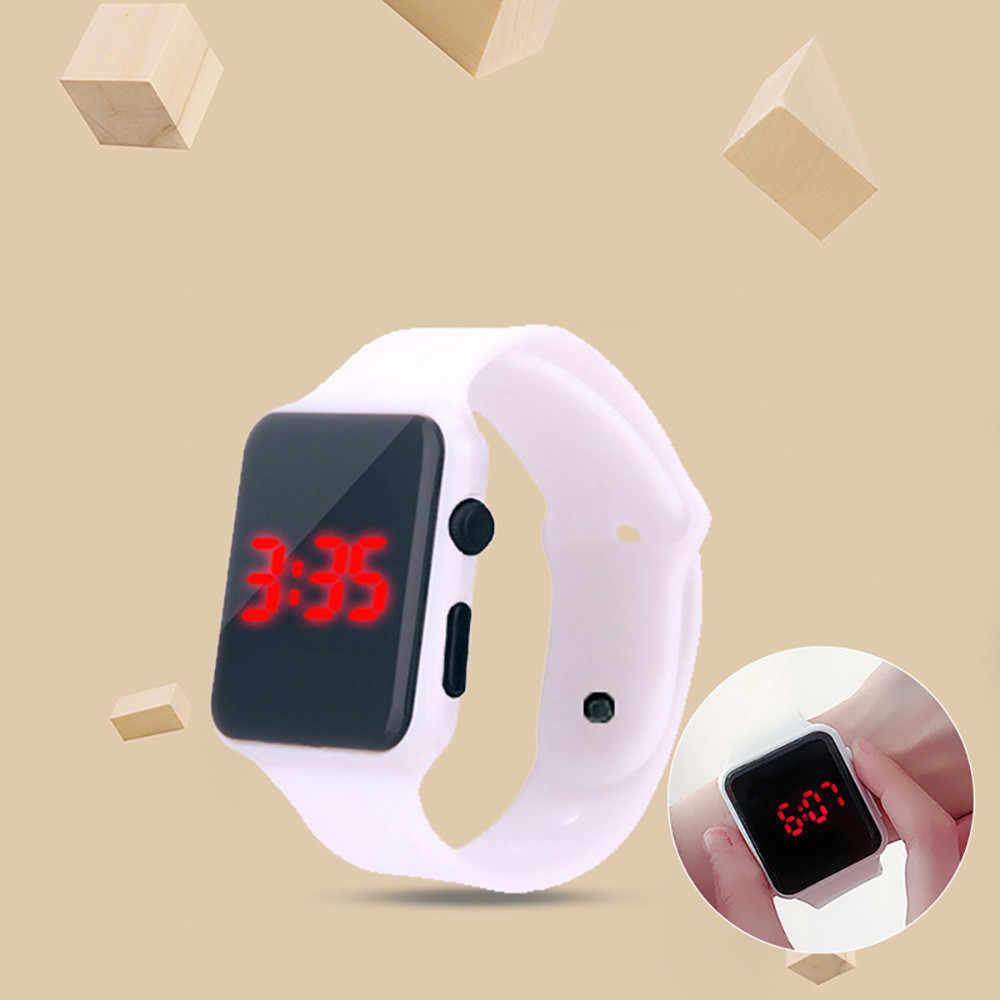 2020 Mode Vierkante Led Digitale Horloges Vrouwen Casual Sport Elektronische Horloges Witte Siliconen Horloges Dropshipping Goedkope Prijs
