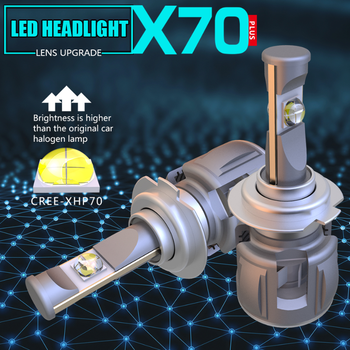 YY 15600LM X70 E70 XHP70 H7 H4 Led Headlight Bulbs H11 H8 Car Lamp H1 9005 HB3 9006 HB4 D4S D2S D1S D3S Headlamp Fog Light 6000K