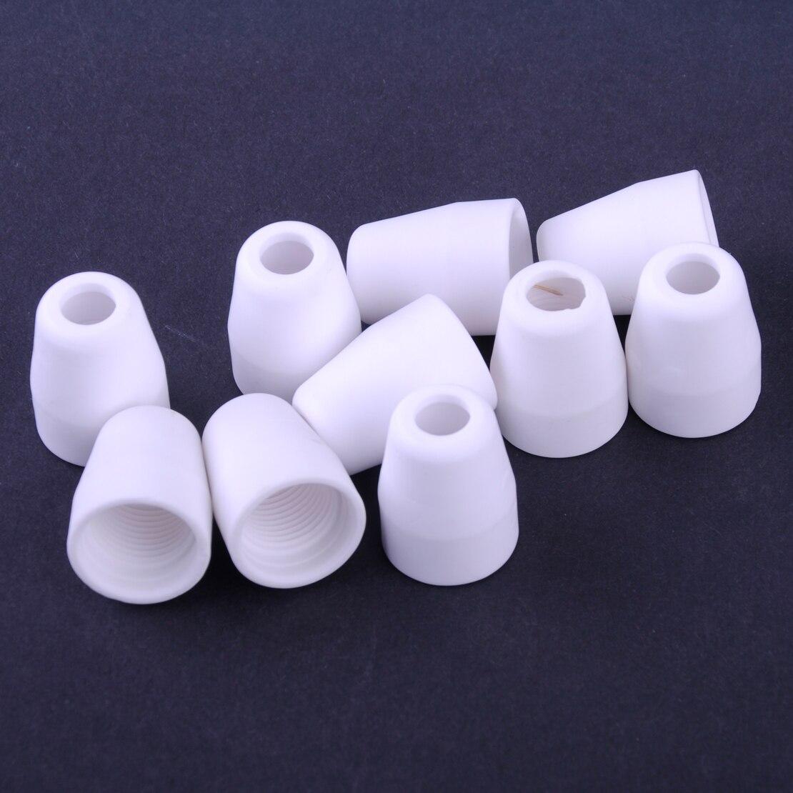 LETAOSK 50pcs Ceramics Plasma Shield Cups Fit for LG-40 PT-31 CUT40 CUT50 Cutter Cutting Torch Accessories