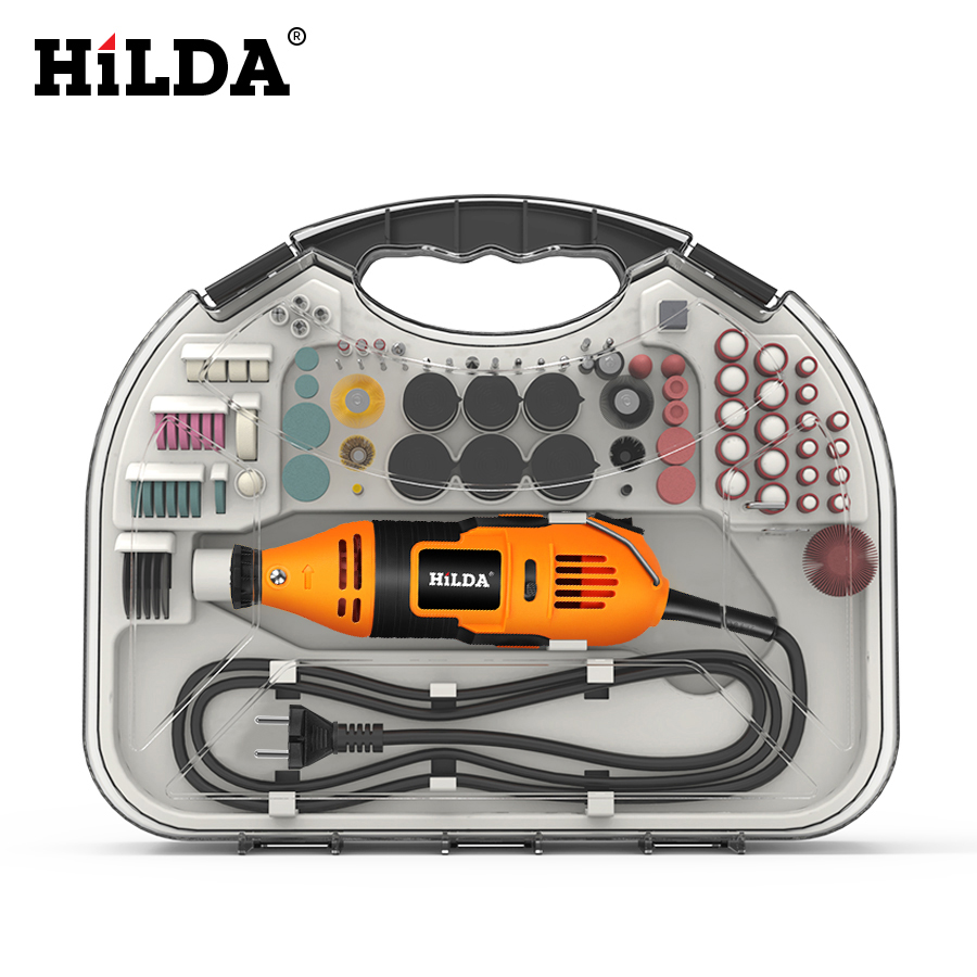 Image 2 - HILDA Electric Mini Drill Dremel Grinder Engraving Pen Mini Drill Electric Rotary Tool Grinding Machine Dremel Accessories-in Electric Drills from Tools on