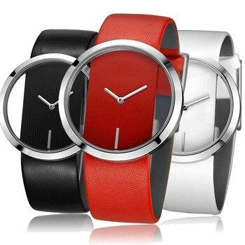 Luxury Transparent Quartz Watch Mineral Strengthened Glass Mirror Belt Waterproof Watches Women Student Luxury Hollow Wristwatch