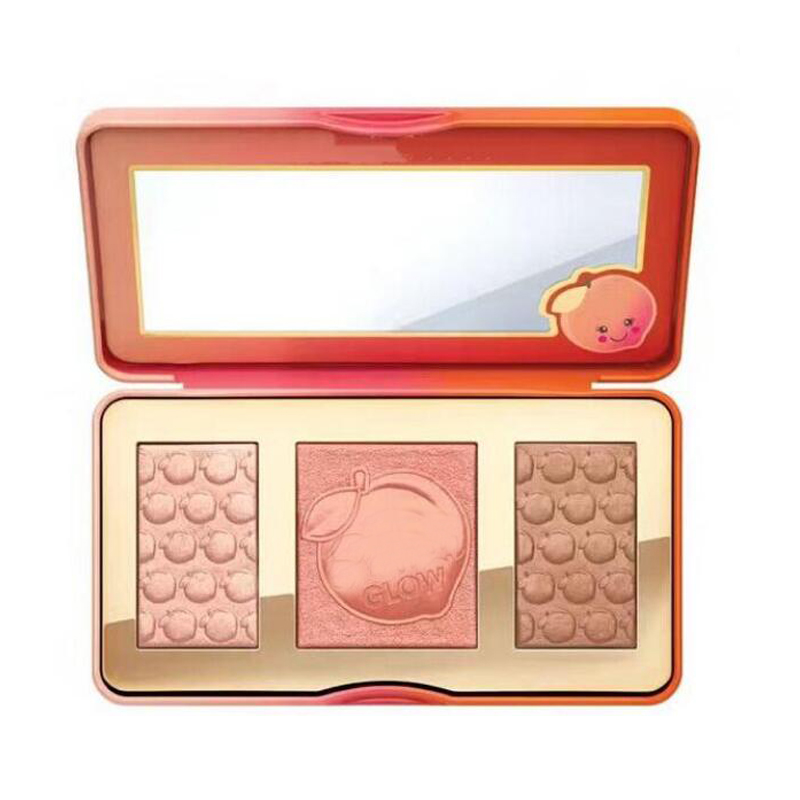 New Sweet Glow Infused Bronzers & Highlighters Blush Palette 3 Shades With Peaches 18 Color Eyeshadow Palette Black Mascara