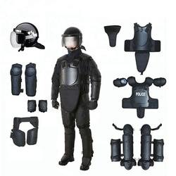 Nero Opaco di Alta Resistente Agli Urti di Formazione Casco di Sicurezza Dispositivi di Protezione Full Body Armatura Anti Sommossa Tuta di Protezione