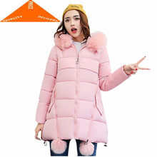 Wadded Winter 2020 Jacket Women Cotton Hooded Outwear Warm Parka High Quality Female Coat Jaqueta Feminina Inverno CJ397(China)