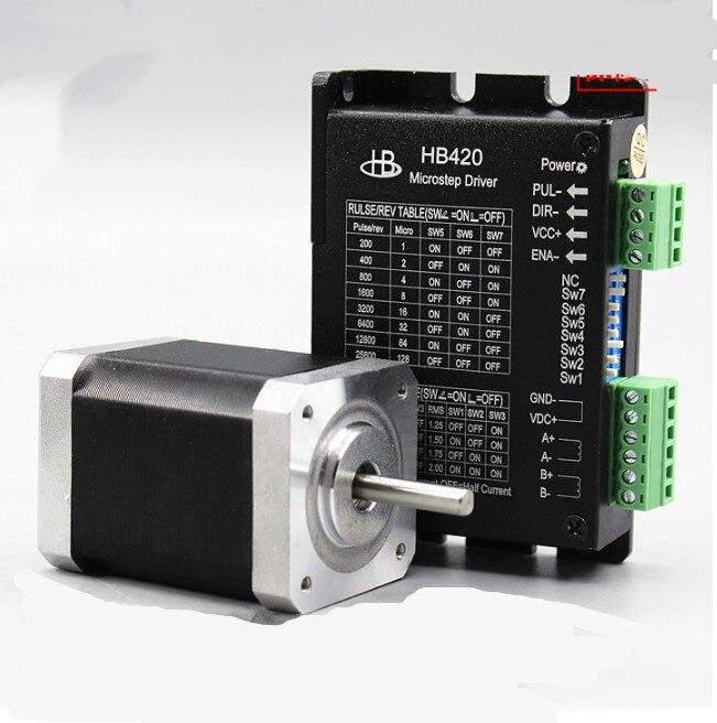 2 phases Nema 17 moteur pas à pas 42BYG250 2A 0.4N.m/0.55N.m/1.0N.m DC moteur pas à pas HB420