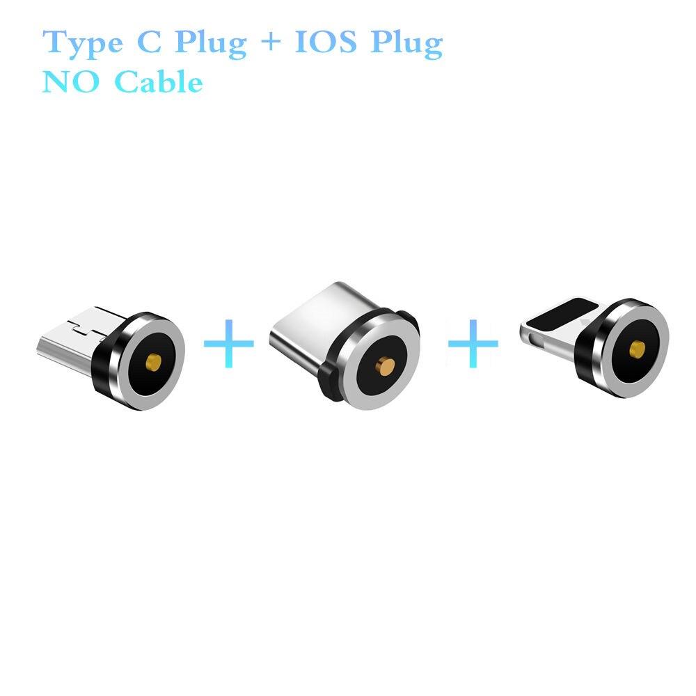 Magnetic Cable Plug USB C Micro Type C Plugs Fast Charging For IPhone Micro Type-C Magnet Charger Plug For IPhone Samsung Huawei