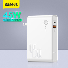 Baseus GaN 45W Power Bank US Plug Charger 10000mah Powerbank for Xiaomi PD Fast Charging US Charger For iPhone QC.4.0 Power Bank