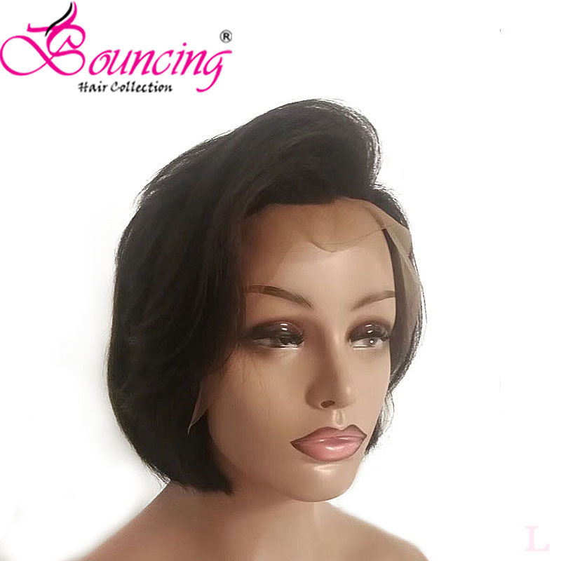 Bouncing Hair 100% Human Remy Hair Short Cut Wigs Pixie Cut Lace Front Wig Brazilian Hair 13*4 Lace Front Wigs Density 150%