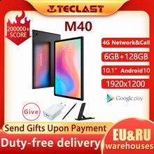 Teclast M40 Android 10 Tablet 1920x1200 10.1 inç 4G ağ 6GB RAM 128GB ROM UNISOC t618 Octa çekirdek tablet PC çift Wifi tip-c
