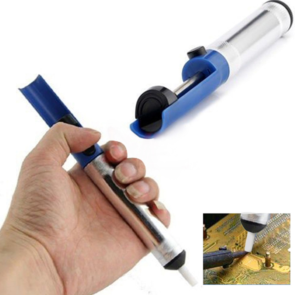 Hot Aluminum Metal Desoldering Pump Suction Tin Gun Soldering Sucker Pen Removal Vacuum Soldering Iron Desolder Tools